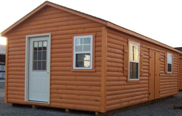 Vinyl Log Siding Cabin